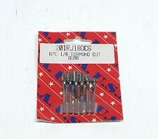"""T&E Tools 6 Pc.1/8"""" Diamond Cut Bur Set"""