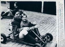 1969 Princes Charles & Edward of Britain Ride Go Kart Together Press Photo