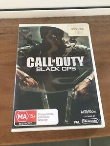 Call Of Duty Black Ops, Nintendo Wii, Complete, gd cond, Aussie Stock