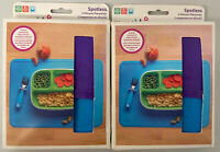 Lot Of 2 Sealed Munchkin Spotless Silicone Placemats for Kids 2 Pack Blue/Purple