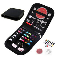 Portable Travel Small Home Sewing Kit Case Needle Thread Tape Scissor Mini Set