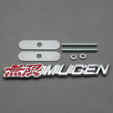 Chrome Red Coated Mugen Front Head Grill Grille Badge Sport Emblem For Crv Hrv Fits 2012 Honda Civic