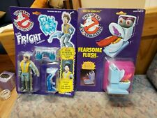 Real Ghostbusters action figures lot Fright Feature Pete Venkman and Fear Flush