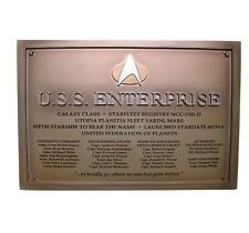 Star Trek Eaglemoss Starship U.S.S Enterprise Dedication Plaque 1701-D NEW