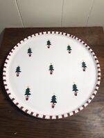 At Home International TRISH RICHMAN Ceramic Christmas Tree Cake/Serving Plate