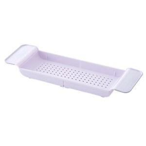 NEW Tub Bathtub Shelf Caddy Shower Expandable Rack Holder Tray Over-Bath Storage
