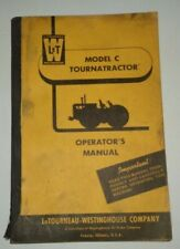 Le Tourneau Model C Tournatractor Tractor Operators Owners Manual Original! 1/58