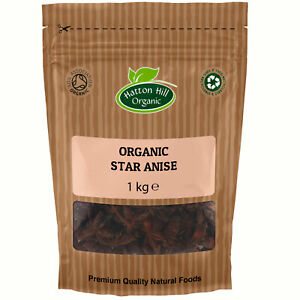 Organic Star Anise Whole 1kg Certified Organic
