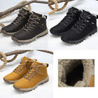 UK Mens Fur Lined Winter Snow Warm Boots Hiking Work Trainer Shoes Size 6-11.5