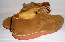 Orvis Sand Beige Suede Nubuck Oxfords 8.5 Lace Up Shoes