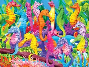 Jigsaw puzzle Animal Fish Singing Seahorses Glow in the dark 300 piece NEW