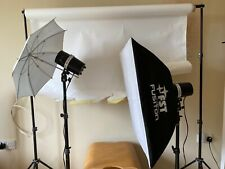 Fotografía de retrato de luces, luces estroboscópicas studio, Soportes De Fondo Kit Completo