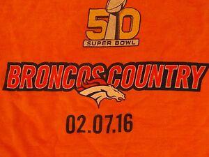 NFL Denver Broncos Super Bowl 50 Licensed Fan Rally Towel Bought at SB50 LEVI ST