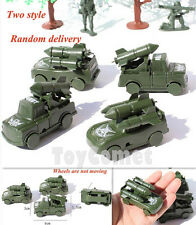 4 pcs Military Missile Cars Trucks Plastic Toy Soldier Army Men Accessories