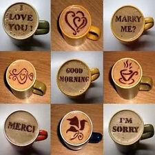 16pcs Cappuccino DIY Coffee Art Stencils Barista Strew Stencils Spray Tool