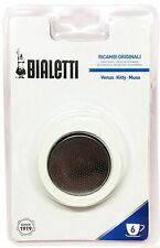 Bialetti Venus, Kitty, Musa Replacement Filter/Gasket, 6 Cup