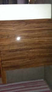 Unterschrank Duravit Vero Handwaschbecken 50 x 25 cm, Olivenholz Dekor