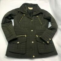 Michael Kors Hooded Womens Jacket Olive Green Size Medium Used In Great Shape