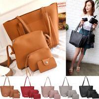 4pcs/Set Ladies Leather Handbag Shoulder Bag Tote Purse Messenger Satchel Bags