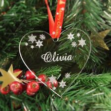 Personalised Christmas Tree Decoration Engraved Bauble Gift - Heart Bauble