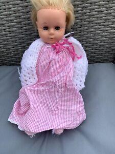 "Palitoy Tiny Tears Doll 1960s 16D ~ 16"" Vintage Vinyl Baby Doll"
