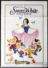SNOW WHITE AND THE SEVEN DWARFS Rare Australian ONE SHEET Movie poster 1987r
