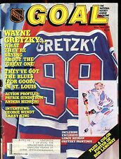 Goal Magazine NHL May/June 1985 Wayne Gretzky EX w/ML 012717jhe