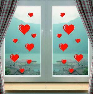 Hearts Window Shop Kitchen Love Art Decorative Vinyl Wall Sticker Decal