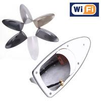 Universal Car Shark Fin Roof Antenna Radio FM/AM Signal Aerial For BMW Gray