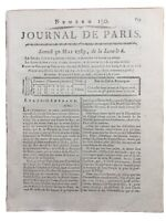 Rare États Généraux 1789 Louis 16 Savoyard Chambéry Journal de Paris