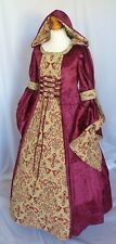 Girls Medieval Dress Renaissance Hooded made to measure from age 9 to 10 yrs