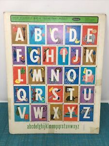 1966 ALPHABET PUZZLE VINTAGE Whitman Help Yourself 1-2-3 Frame Tray