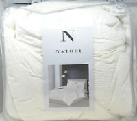 N Natori Full Queen Cotton Blend Yarn Dyed 3 Piece Comforter Set NS10-3243