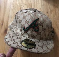 New Era 59Fifty Gucci GG Monogram Atlanta Braves Cap Fitted Size 7 RARE