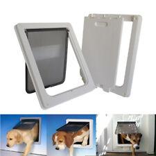 Extra Large ABS Plastic Pet Cat Dog Lockable Security Flap Door Gate Frame Door