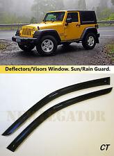 For Jeep Wrangler TJ 3d 1997-2009, Windows Visors Deflector Sun Rain Guard Vent