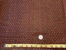 NEW~BTY~Fabric~Cotton~Polka Dots~Brown W/ Yellow/Pink/Blue Dot~Quilt~Lightweight