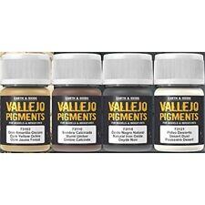 Vallejo Dust & Dirt Pigment Set, 4x35ml - Pigments Set 5 140ml 73190 Desert