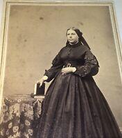 Antique American Civil War Victorian Era Fashion Woman! Rhode Island CDV Photo!