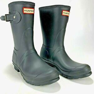 Hunter Womens Original Play Boot Short Rainboots Black Size US 7 Item #1276023