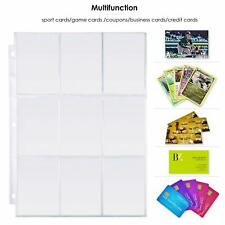 More details for 50 pages 9 pockets card collection album book binder sheets storage album page
