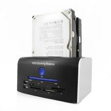 USB 3.0 SATA Hard Drive Docking Backup Clone Dual Dock
