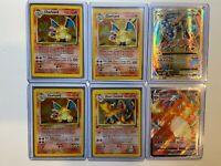 Vintage Pokemon Base Set Charizard Lot - Base, Pocket Monsters, Japanese, Rares