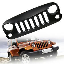 Front Eagle Eye Grill Grille Grid  Matte Black for 2007-2017 Jeep Wrangler JK