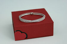 18K WHITE GOLD PLATED SWAROVSKI ELEMENT LADIES BANGLE