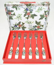 Portmeirion The Holly & The Ivy Pastry Forks Set of 6 NIB