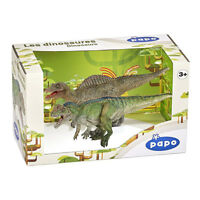 Papo Dinosaurs Display Box 80102 Ceratosaurus and Spinosaurus Figures NEW