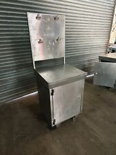 More details for stainless steel commercial food grade lectern cabinet with notice board & wheels