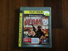 TOM CLANCY'S RAINBOW SIX VEGAS 2 FOR PS3 LIKE NEW WITH MANUAL AUS GAME