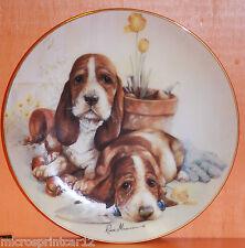 """Little Gardeners"" Puppy Pals Series Danbury Mint Plate"